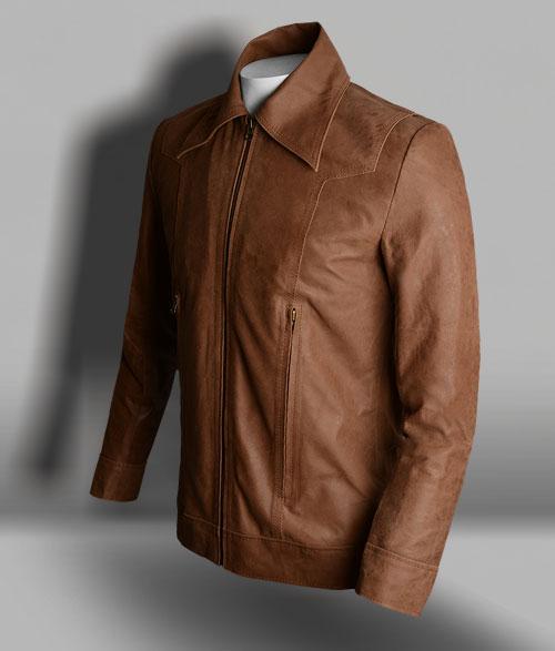 X Man Vintage Brown Leather Jacket