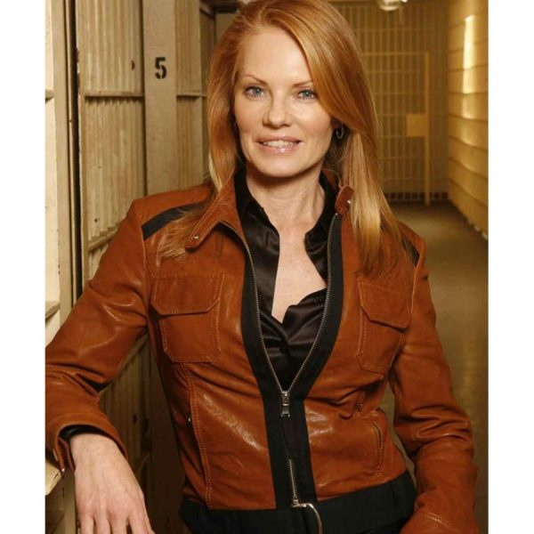 CATHERINE WILLOWS CSI BROWN JACKET