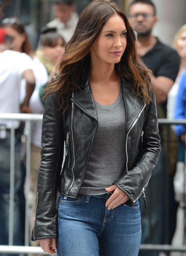 Megan Fox Black Leather Jacket