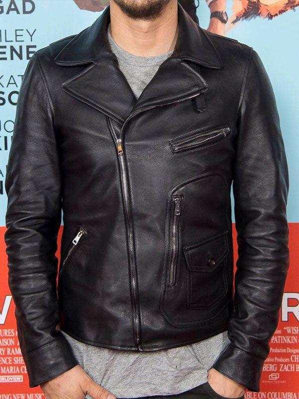 James Franco Black Biker Leather Jacket