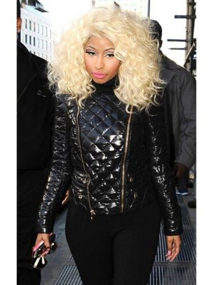 Nicki Minaj Black Quilted Jacket-0