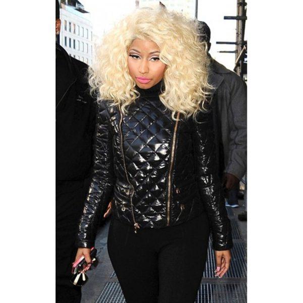 Nicki Minaj Black Quilted Jacket-0