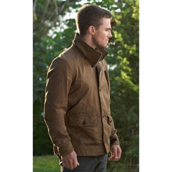 Sthephen Amell Cotton Jacket