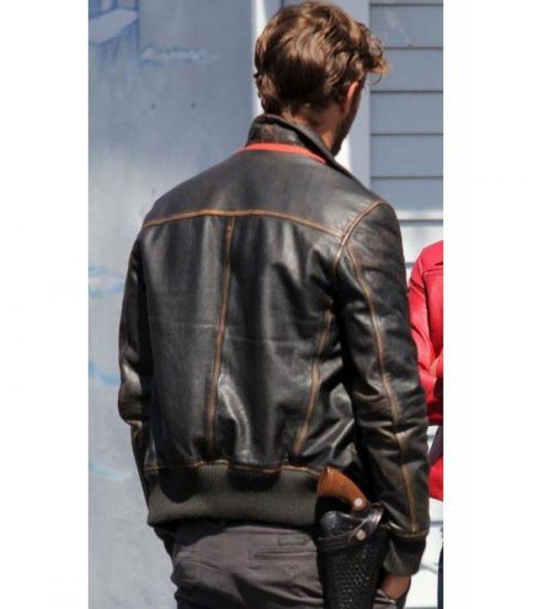 Sheriff Garham Brown Leather Jacket