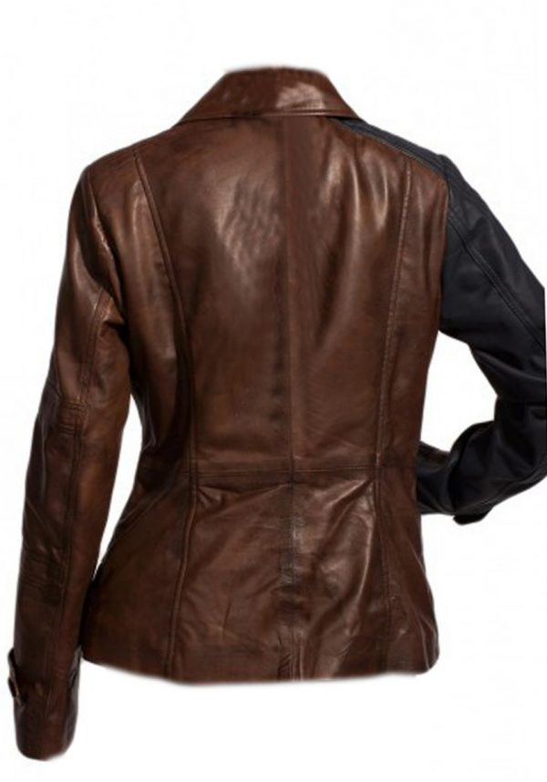 Defiance Brown Amanda Rosewater Slim-fit Jacket