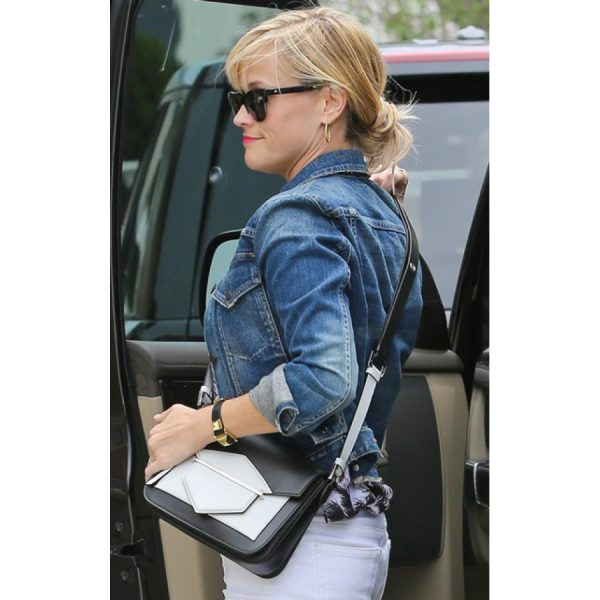 Reese Witherspoon Cropped Denim Jacket