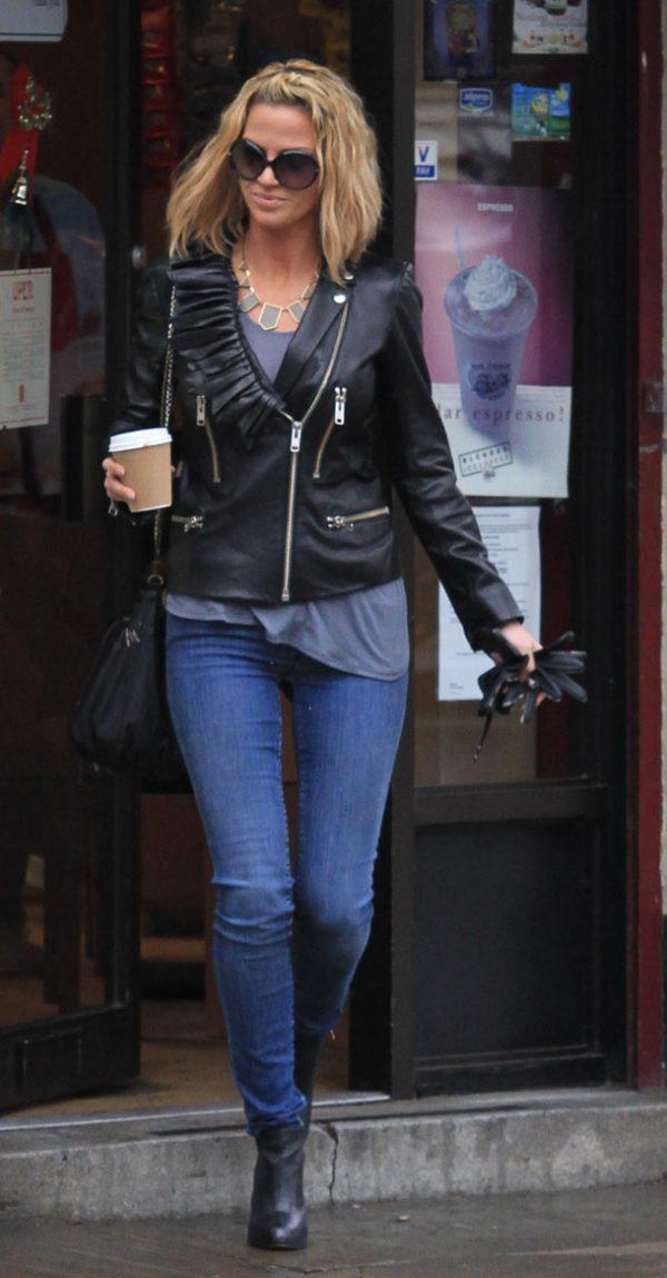 Sarah Harding Biker Leather Jacket