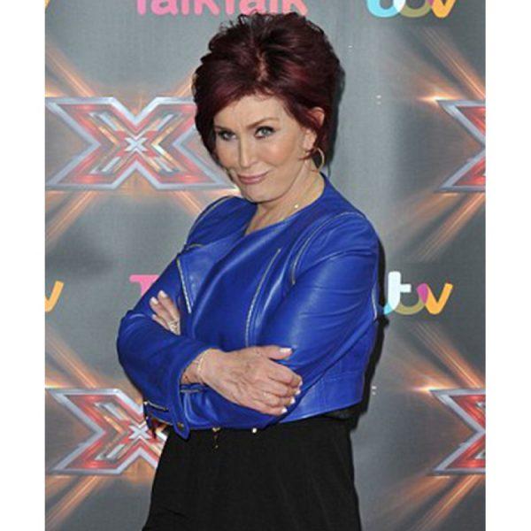 Sharon Osbourne X Factor Blue Jacket