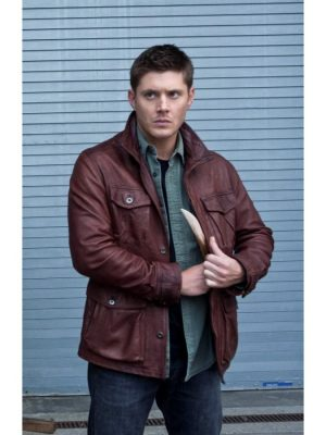 Dean Winchester Supernatural Season 7 Leather Jacket-0