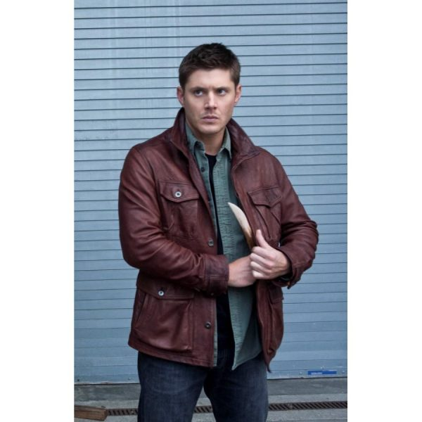 Dean Winchester Supernatural Season 7 Leather Jacket-0