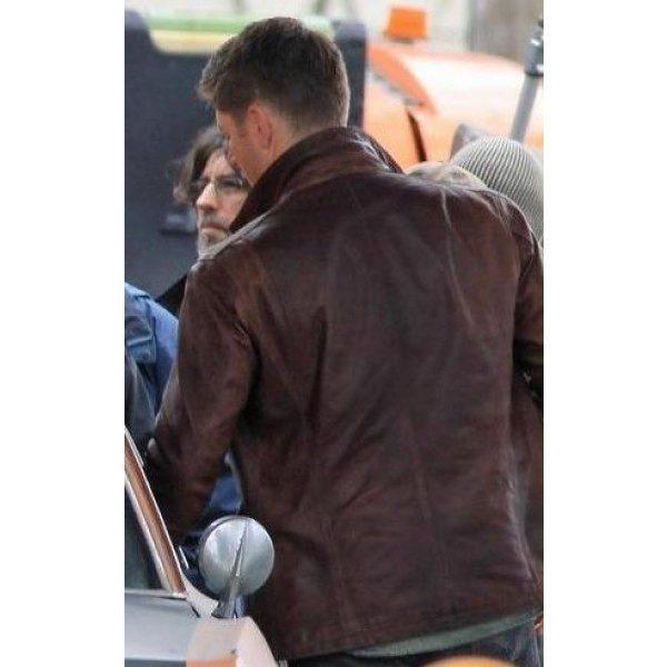 Supernatural Brown Distressed Leather Jacket