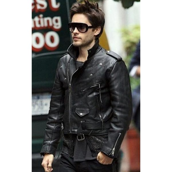 Jared Leto 30 Seconds To Mars Black Leather Jacket