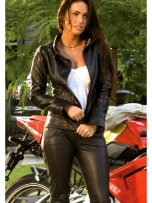 Black Biker Transformers 2 Megan Fox Jacket-0