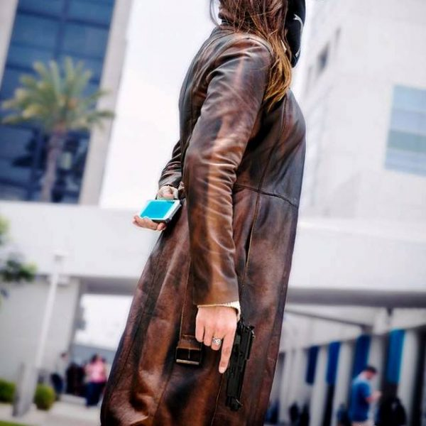 Watch Dogs Brown Leather Coat For Women
