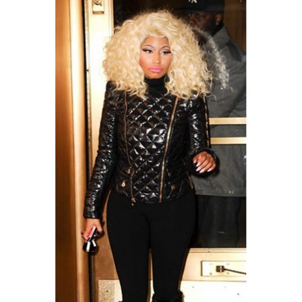 Nicki Minaj Quilted Leather Jacket