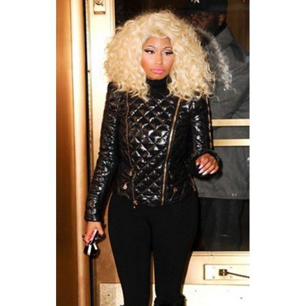 Nicki Minaj Quilted Leather Jacket