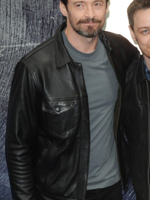 Hugh Jackman X Men Black Leather Jacket