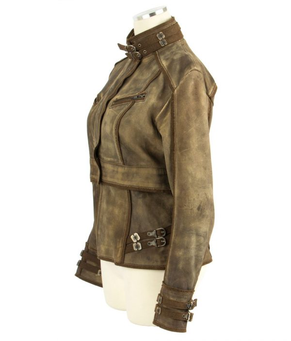 Total Recall Brown Leather Jacket