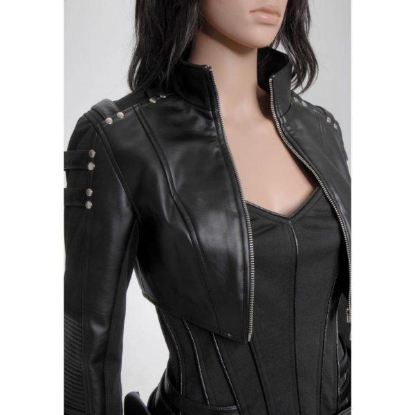 Katie Cassidy Leather Jacket
