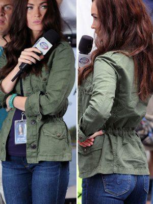 Megan Fox Green Cotton Jacket TMNT 2
