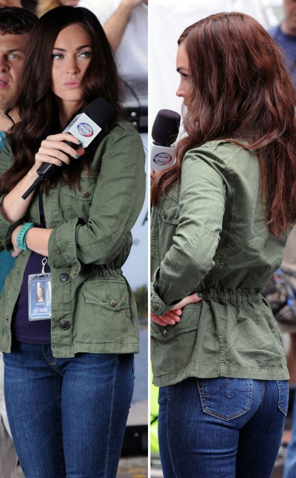 Megan Fox Green Cotton Jacket TMNT 2