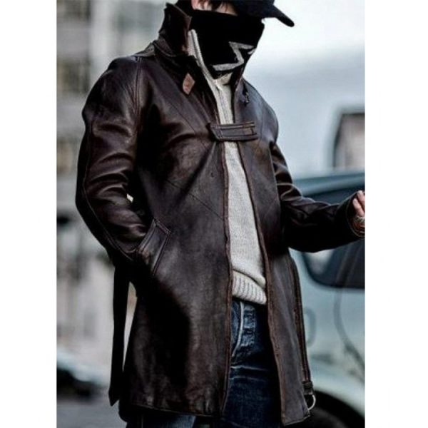Brown Leather Jacket Form Watch Dogs