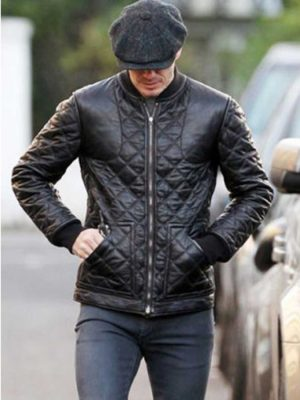 David Beckham Black Jacket