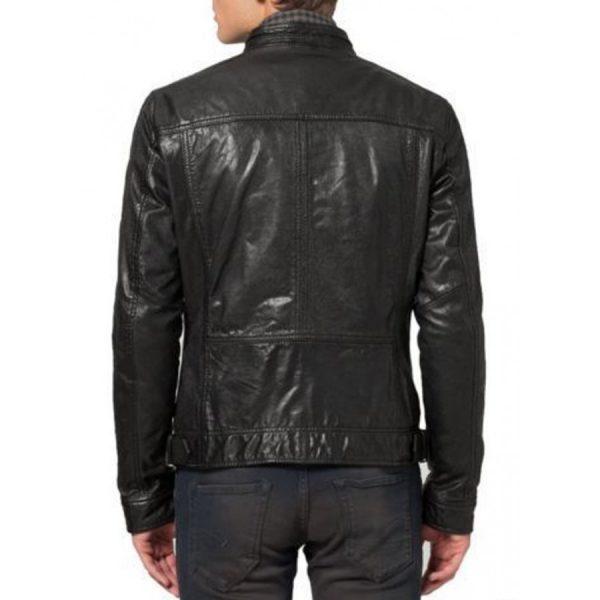 Black Mens Cafe Racer Jacket