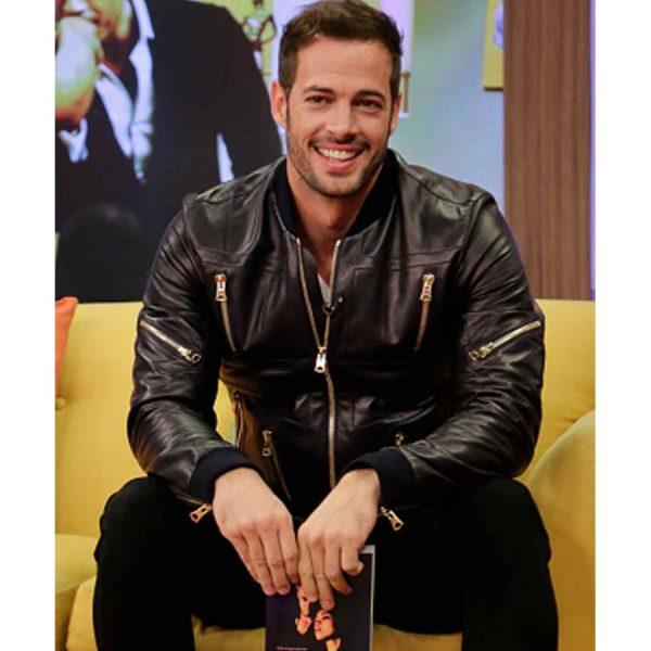 William Levy Biker Leather Jacket