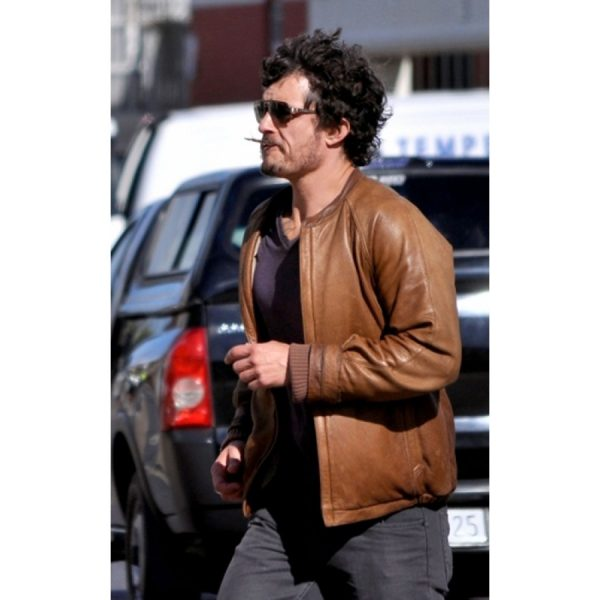 Orlando Bloom Zulu Brown Jacket