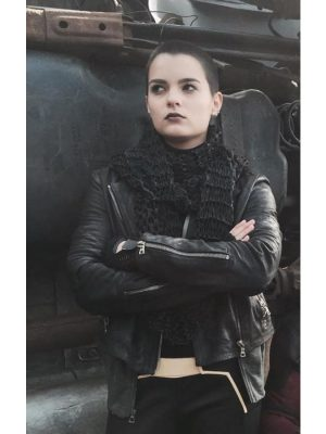 Ellie Phimister Black Leather Jacket Deadpool