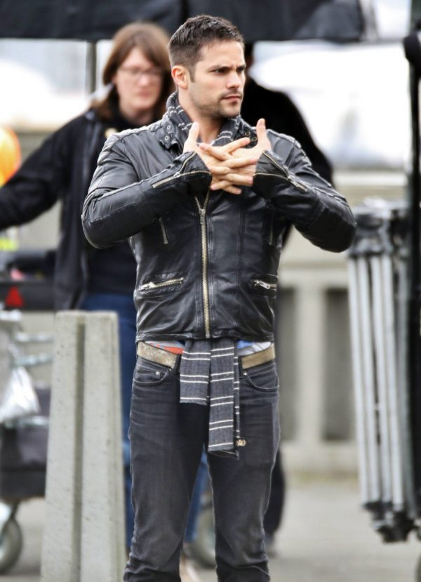 Fifty Shades Freed Black Brant Daugherty Leather Jacket