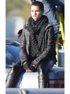 Deadpool Ellie Phimister Black Leather Jacket-0