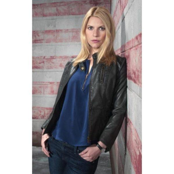 Homeland Claire Danes Black Jacket