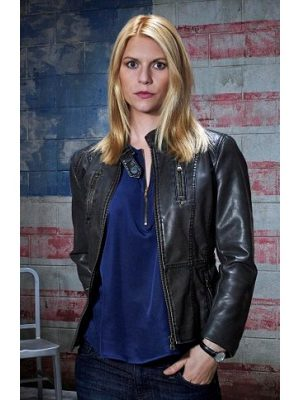 Homeland Claire Danes Leather Jacket-0