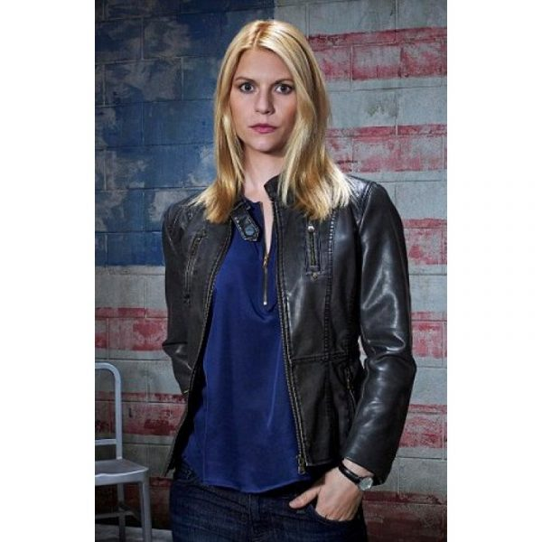 Homeland Claire Danes Leather Jacket-0