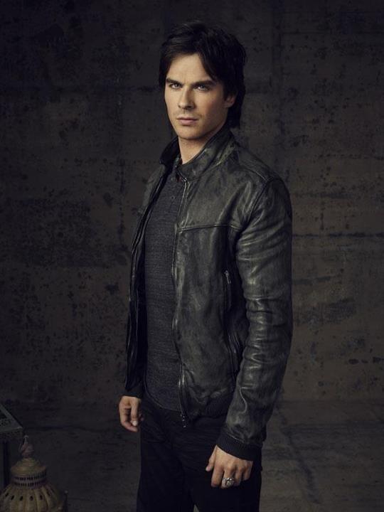 Damon Salvatore Black Jacket The Vampire Diaries