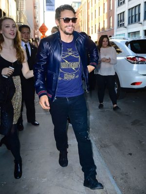 James Franco Blue Bomber Jacket