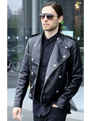 Thirty Seconds to Mars Jared Leto Leather Jacket-0
