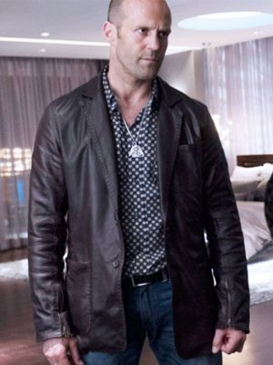 Jason Statham Wild Card Leather Jacket -0