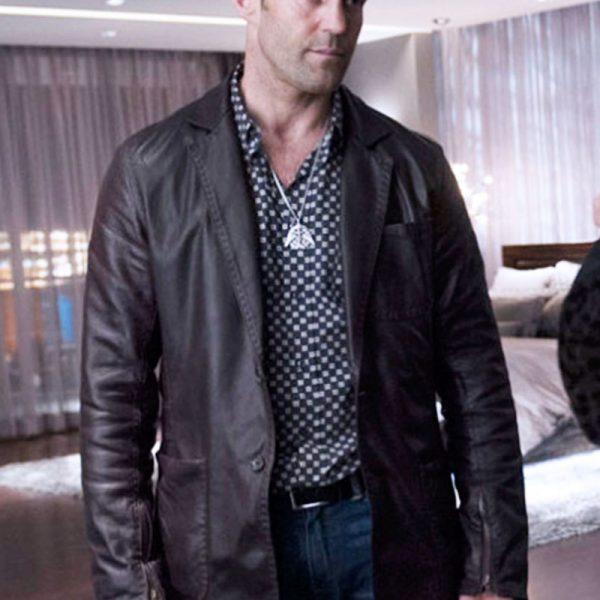 Jason Statham Wild Card Leather Jacket -0