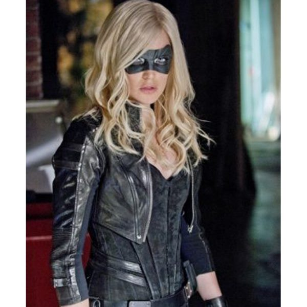 Katie Cassidy Arrow Season 2 Black Jacket