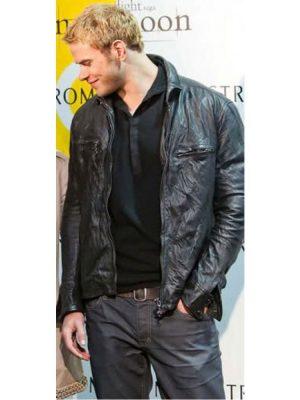 The Twilight New Moon Kellan Lutz Leather Jacket-0