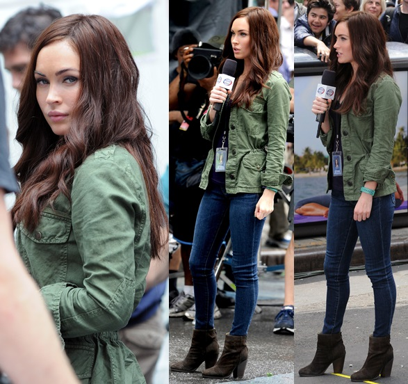 TMNT 2 Megan Fox Green Jacket