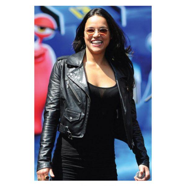 Michelle Rodriguez Black Biker Jacket