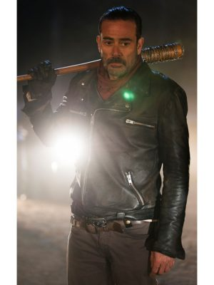 The Walking Dead Negan Leather Jacket-0