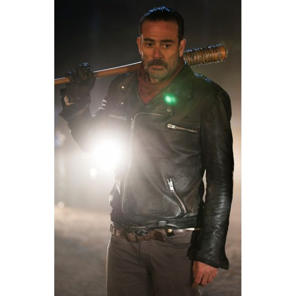 The Walking Dead Negan Leather Jacket-0