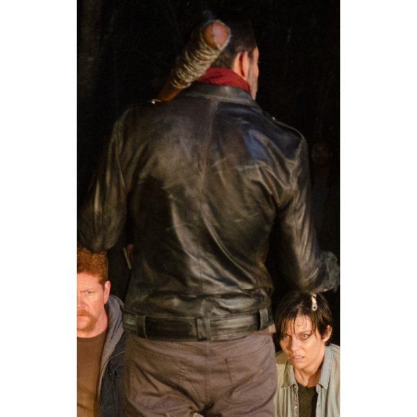 The Walking Dead Black Biker Jacket