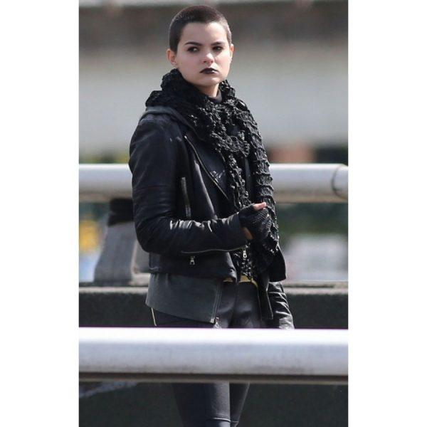 Deadpool Black Leather Jacket Ellie Phimister