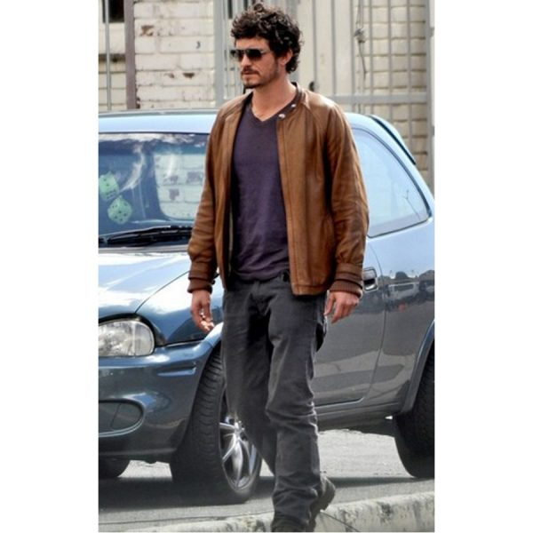 Brian Epkeen Zulu Movie Orlando Bloom Leather Jacket-0